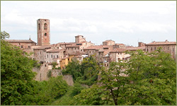 the village of Colle di Val d'Elsa